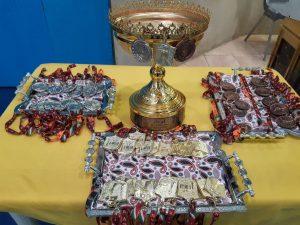 رونمایی از کاپ قهرمانی فوتسال لیگ برتر آسیا ویژن و مدالهای تیمهای اول تا سوم