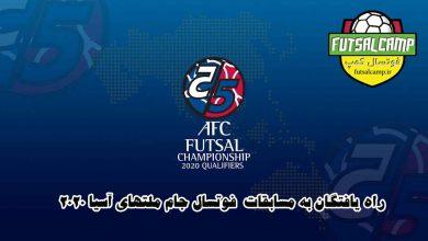 راه یافتگان به مسابقات فوتسال جام ملتهای آسیا 2020