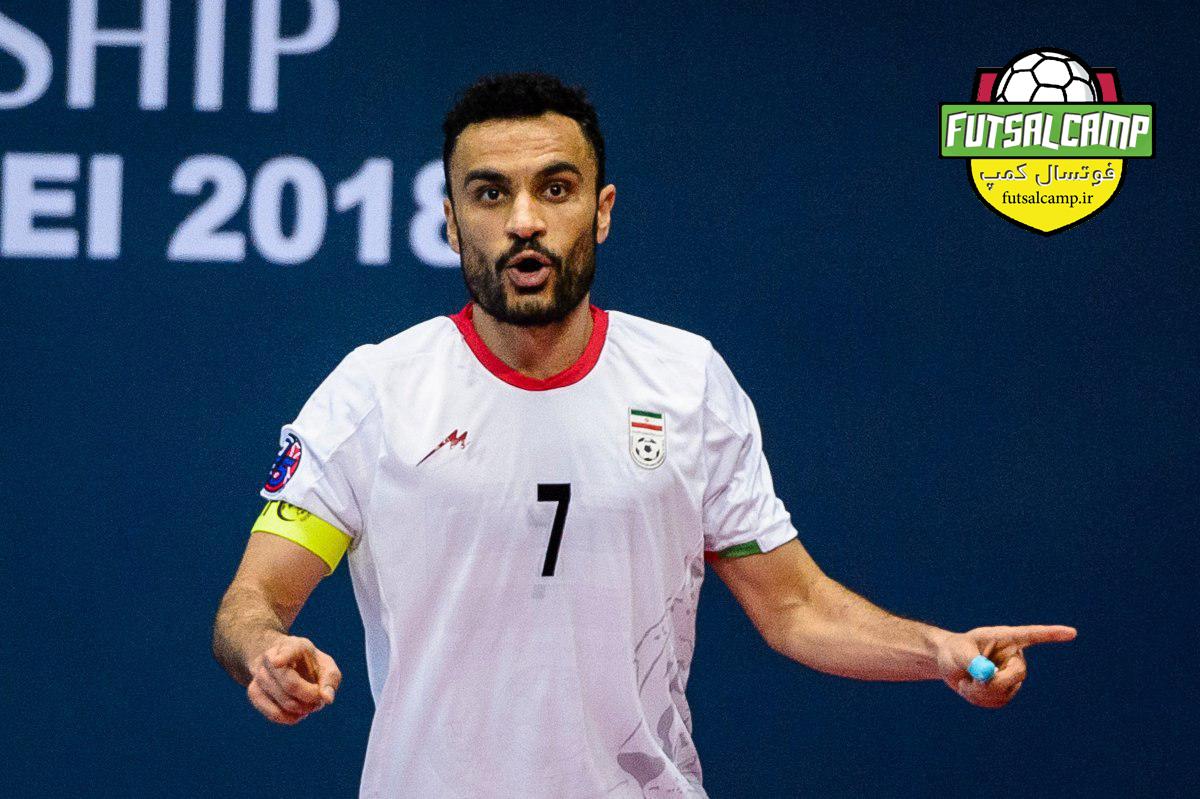 علی اصغر حسن زاده کاپیتان تیم ملی فوتسال ایران