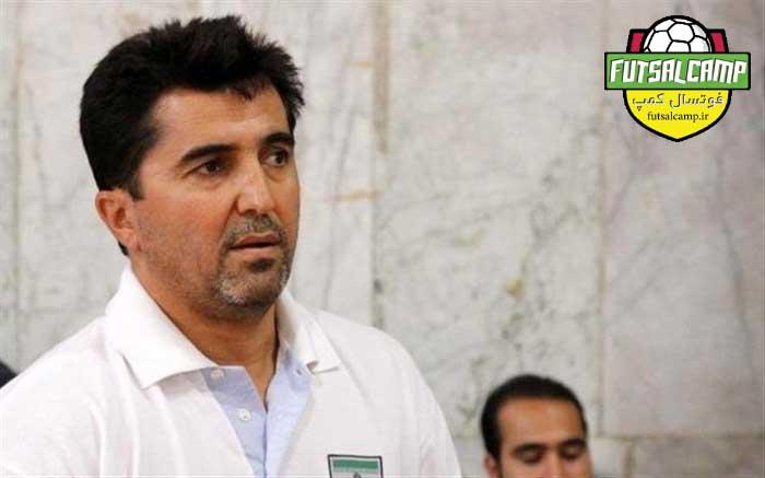 محمد ناظم الشریعه سرمربی تیم ملی فوتسال