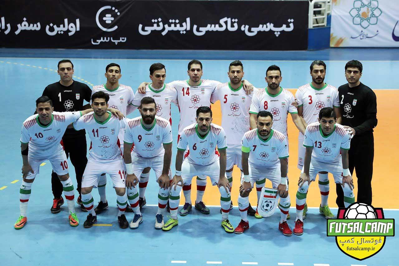 بازی تیم های ملی فوتسال ایران و بلاروس