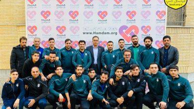 دیدار تیم ملی فوتسال از موسسه خیریه همدم مشهد
