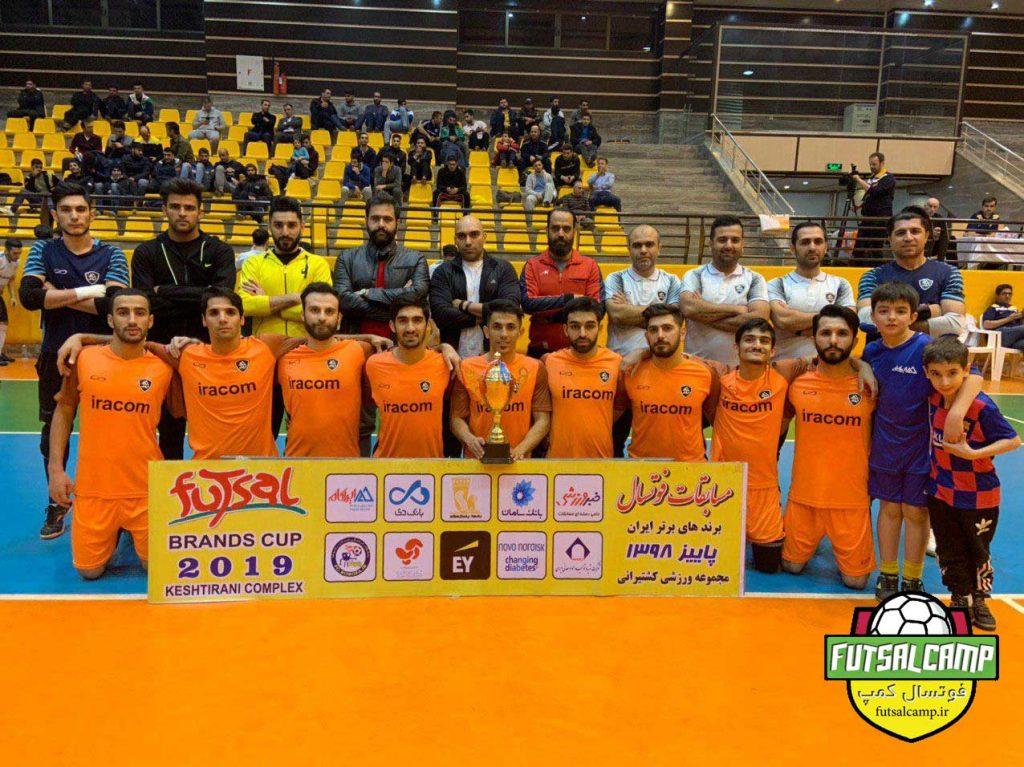 تیم فوتسال ایراکام نایب قهرمان مسابقات برندهای برتر کشور