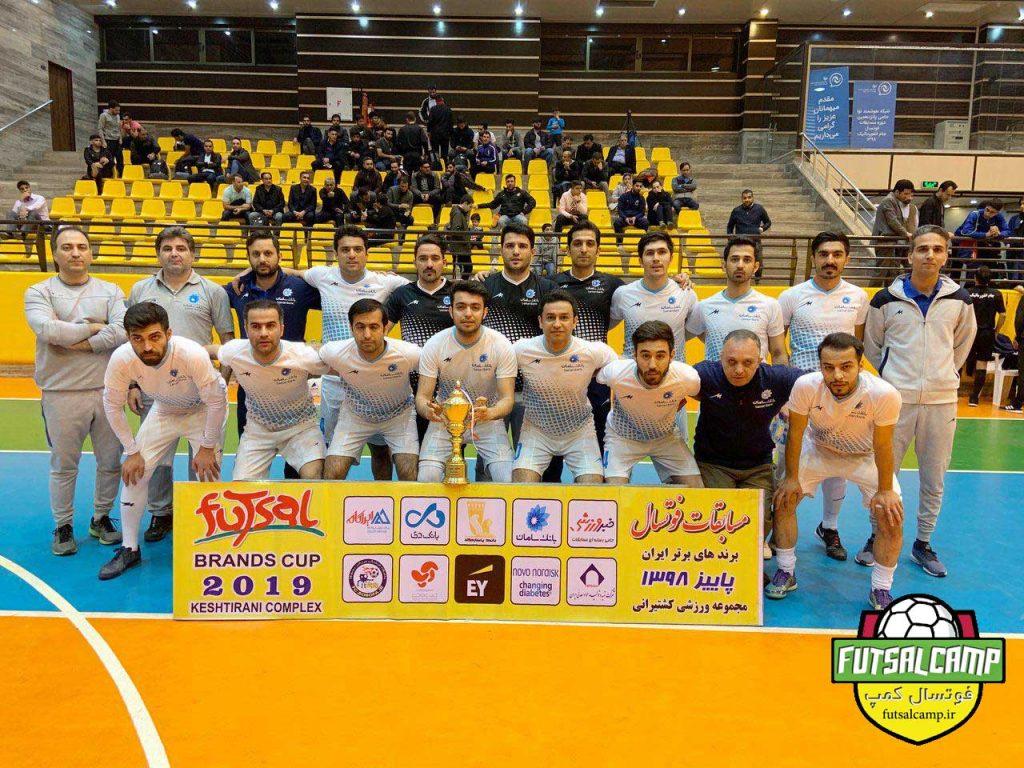 تیم فوتسال بانک دی تیم سوم مشترک برند کاپ با تیم فوتسال بانک سامان