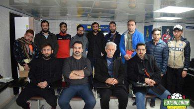 اعضای حاضر در قرعه کشی لیگ فوتسال جوانان تهران