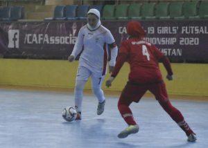 مسابقه تیم های ملی فوتسال زیر20سال بانوان ایران و افغانستان