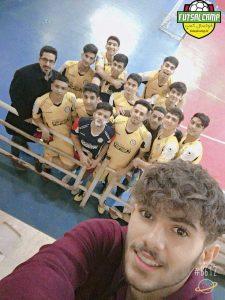 سلفی جوانان روبوفا بعد از برد تیم فوتسال جوانان شاهد در پایان هفته اول لیگ فوتسال جوانان تهران