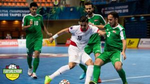 بازی تیم های ملی فوتسال ایران و عراق