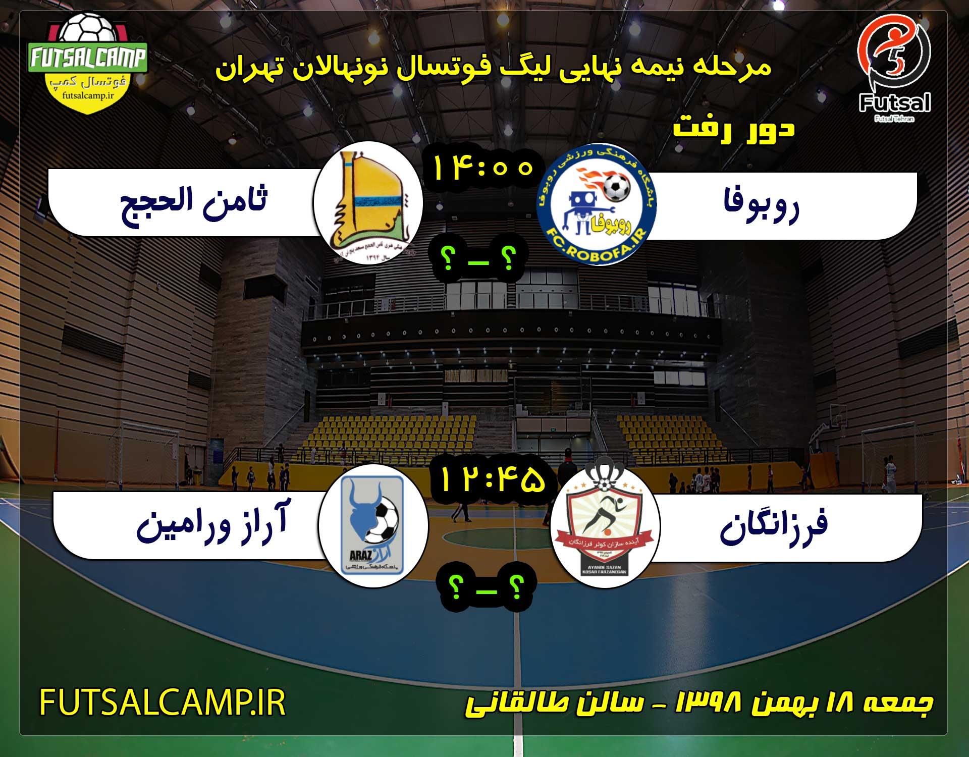 نیمه نهایی لیگ فوتسال نونهالان تهران