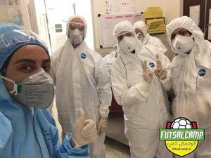لیلا حبیبی ، پرستار بخش بیماری ها کرونایی های فوتسال بانوان