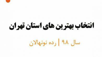 برترین مربیان سال 98 در لیگ فوتسال نونهالان تهران
