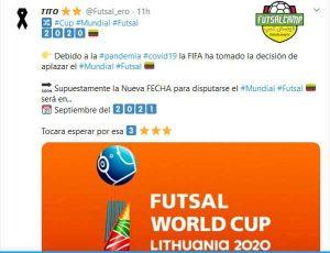 خبر تعویق جام جهانی فوتسال