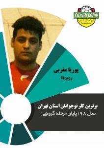 نفر اول برترین دروزاه بانان فوتسال نوجوانان تهران