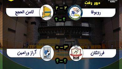 دوره رفت نیمه نهایی لیگ فوتسال نونهالان تهران